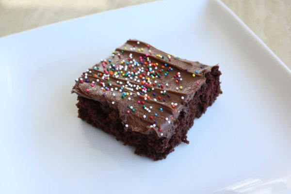 Frosted Zucchini Cake Brownies