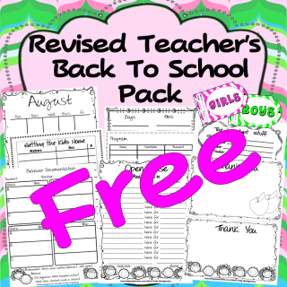 Teachers, Join the Email List and Get the Revised Back to School Pack FREE!