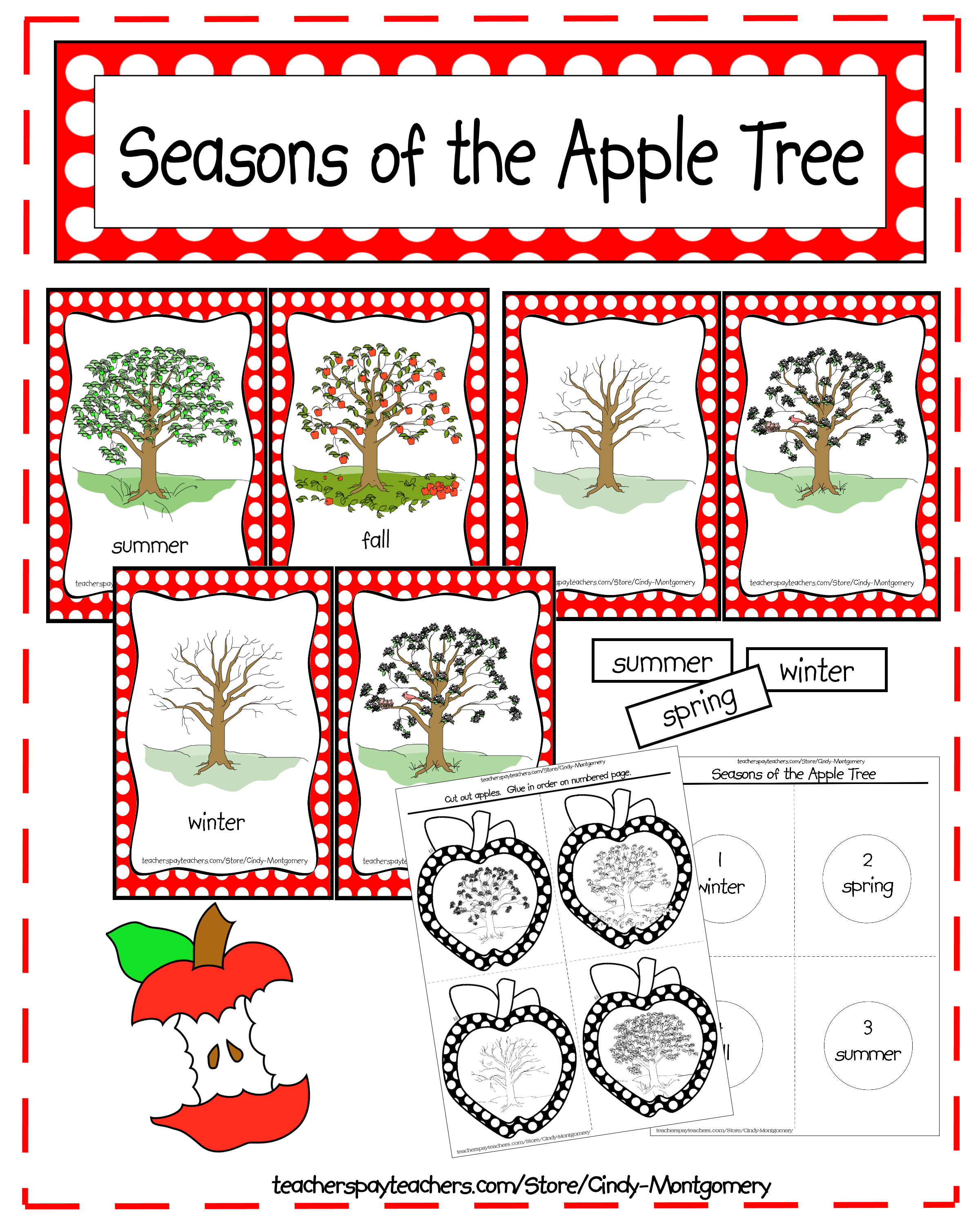 Seasons Of The Apple Tree Printables And Activities
