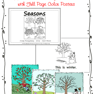 Seasons of the Apple Tree Emergent Reader and Color Posters