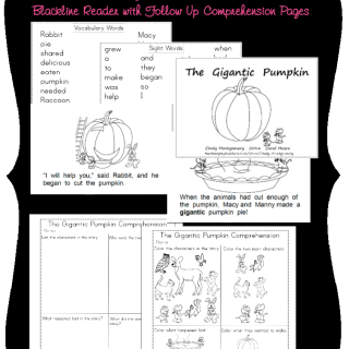 The Gigantic Pumpkin Reader and Comprehension Pages
