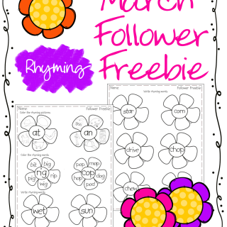 March Rhyming Follower Freebie