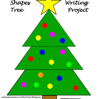 Christmas Shapes Tree Craft and Writing Project