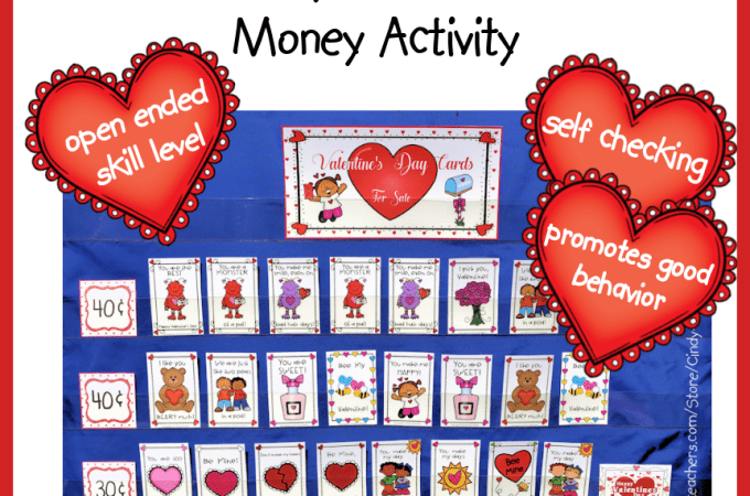 Valentine's Day Cards Money Activity