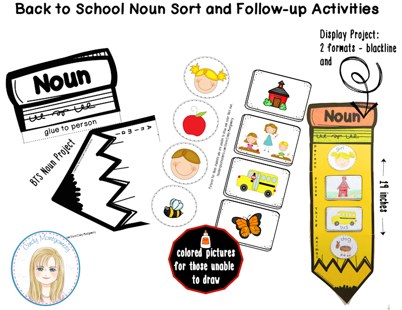 Back to School Noun Sort Display Project