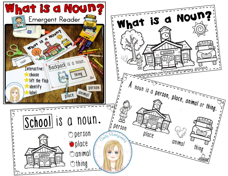 What is a Noun? emergent reader PREVIEW pg 1