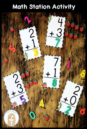 Addition Flashcards Math Station Activity