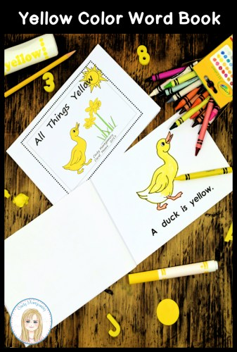 All Things Yellow color word emergent reader