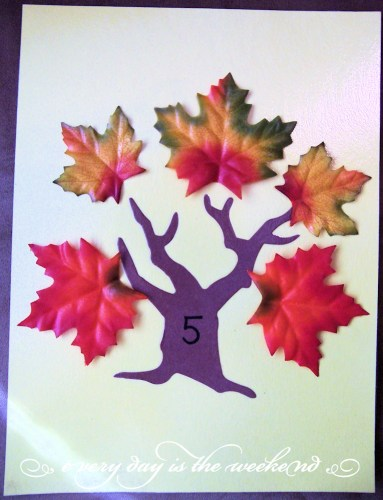 Fall Math Counting Center Activity