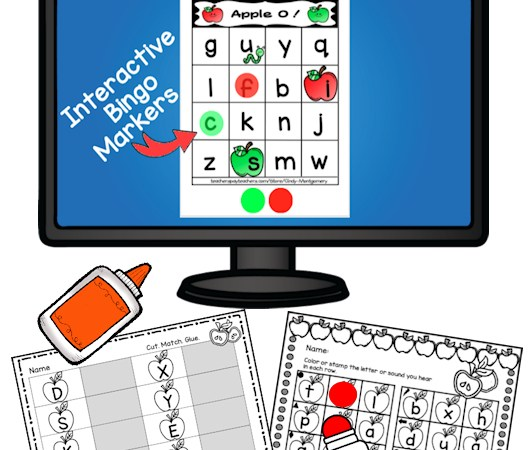 Apple O Interactive Letter Bingo Game for Google Slides