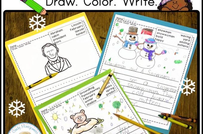 K-1 Winter Writing Activities