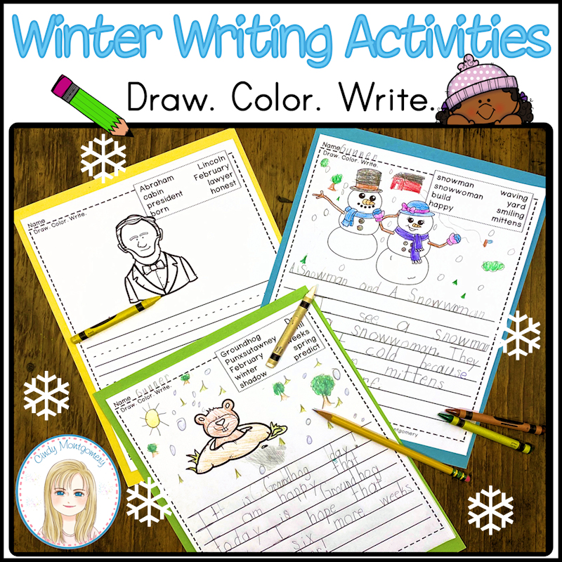 K-1 Winter Writing Activities