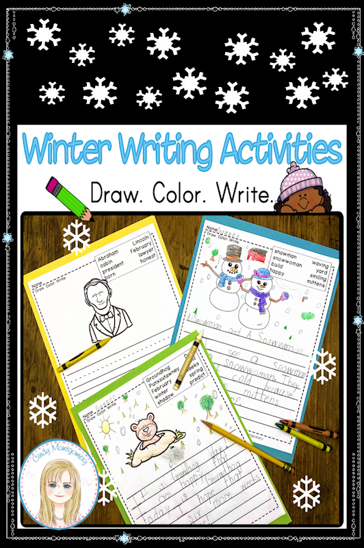 Winter Writing Activities for Kindergarten and First Grade