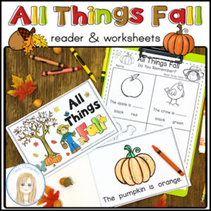 Fall Emergent Reader resource for teaching sight words