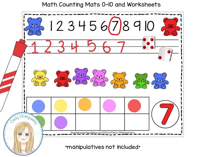 Counting Bears Math Mat 0-10