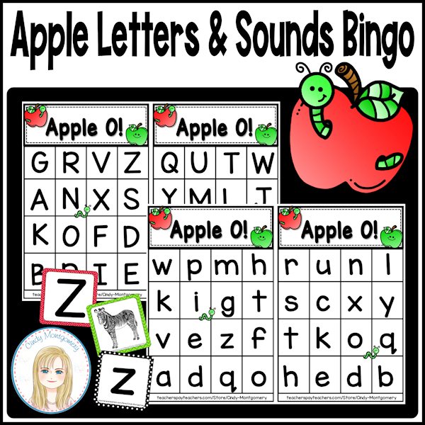 Apple Letters and Sounds Bingo cover