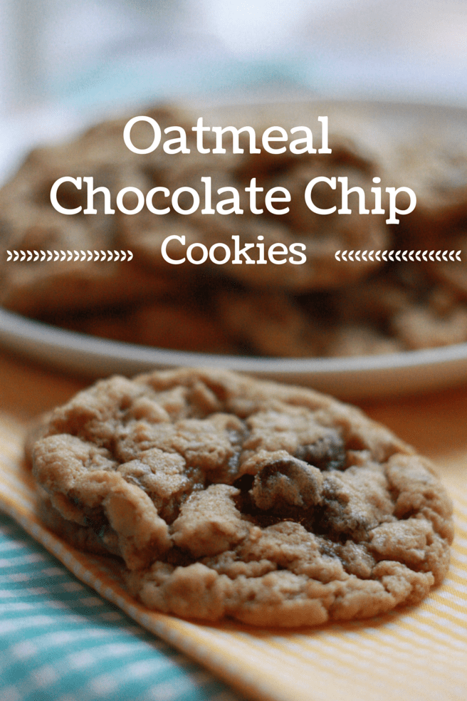 The best oatmeal chocolate chip cookies or oatmeal raisin cookies, recipe on everydayjenny.com. These cookies turn out perfect every time with a crispy outside and soft middle
