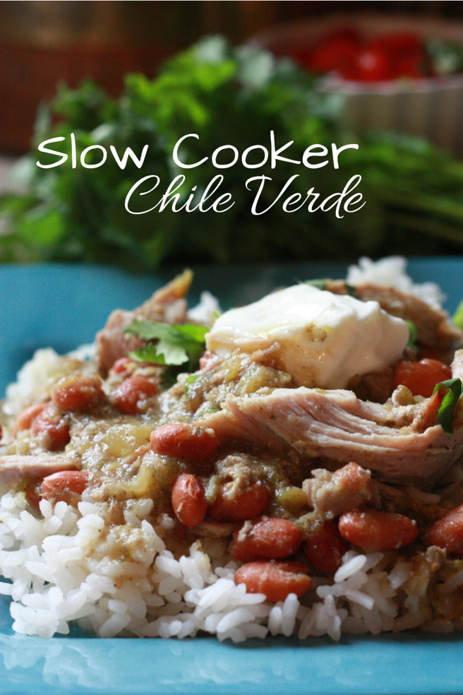 Slow cooker chile verde. My favorite slow cooker recipe.