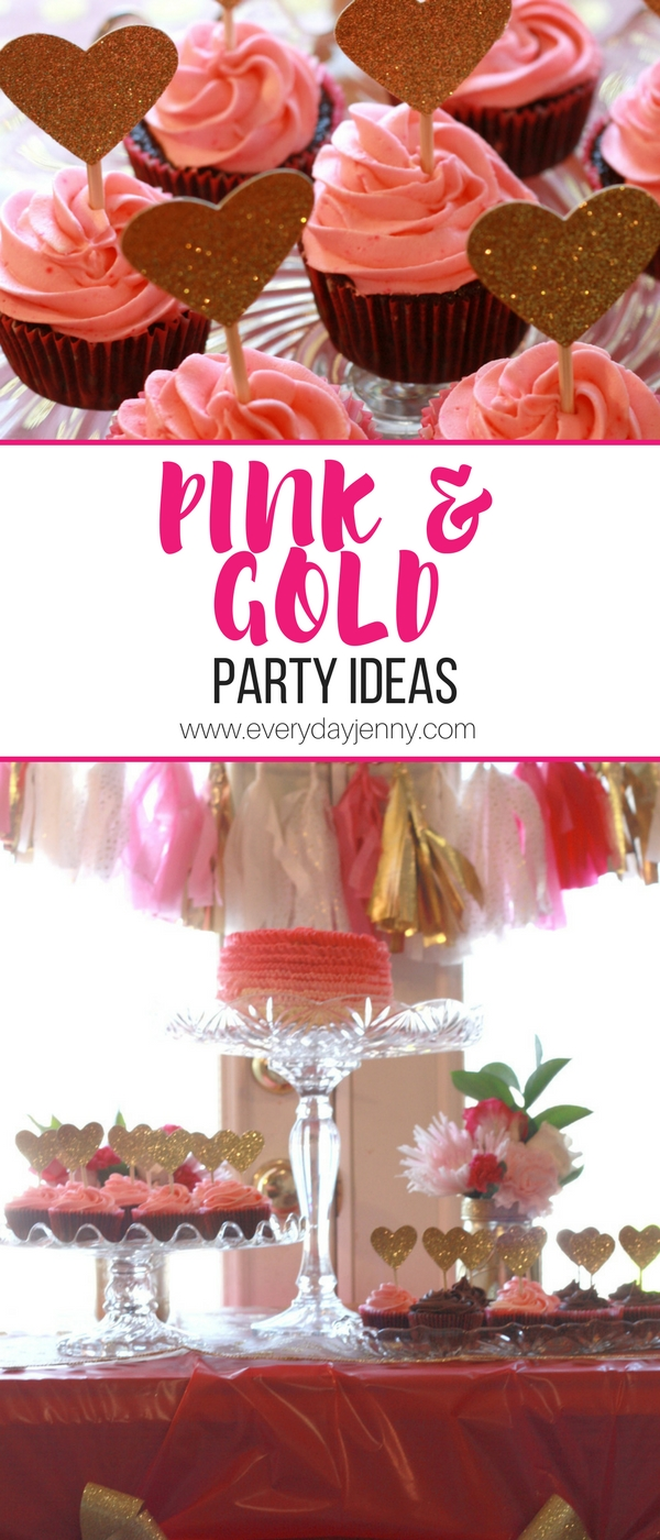 Pink and gold party ideas. I threw this party for my little girl's first birthday. Some ideas for party decor.