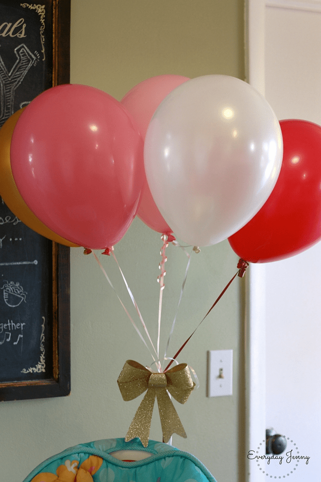 Pink and Gold Party Balloons