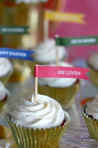 Hallelujah Easter Decor Cupcake Toppers Free printable