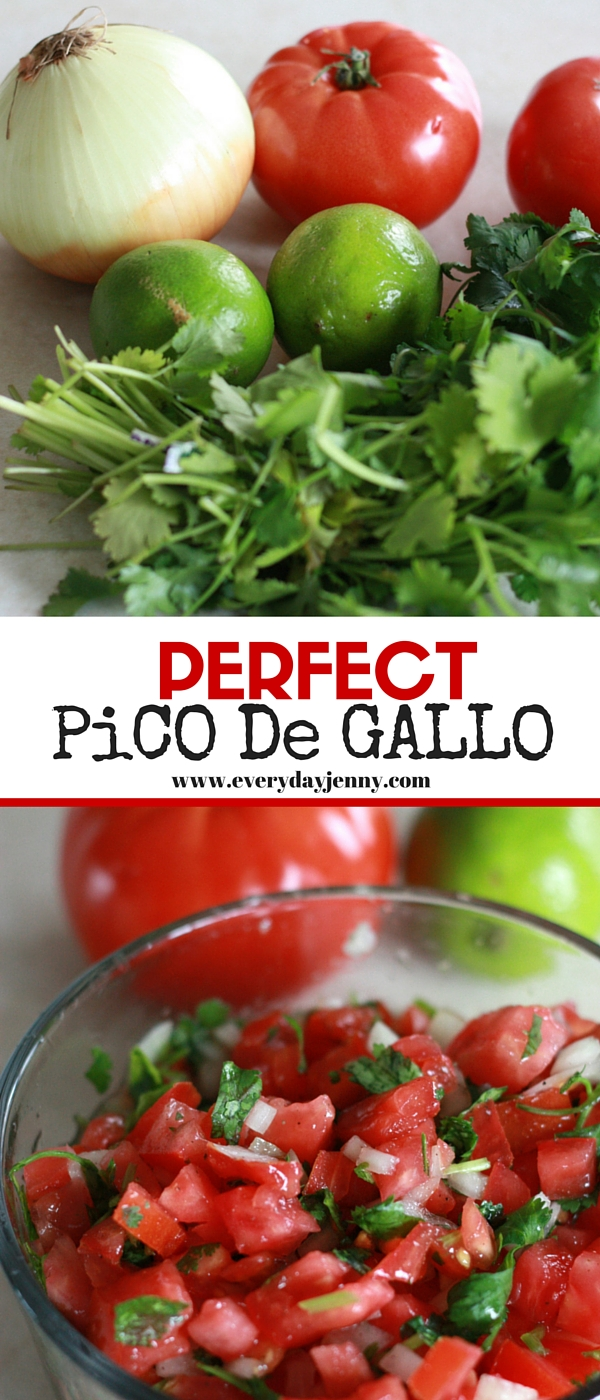 These two secrets will give you the perfect pico de gallo every time! Recipe and secrets at everydayjenny.com. Delicious on tacos, or just with tortilla chips!