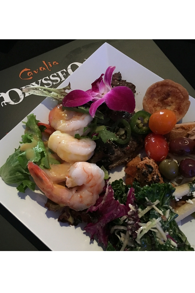 Buffet food at Odysseo by Cavalier