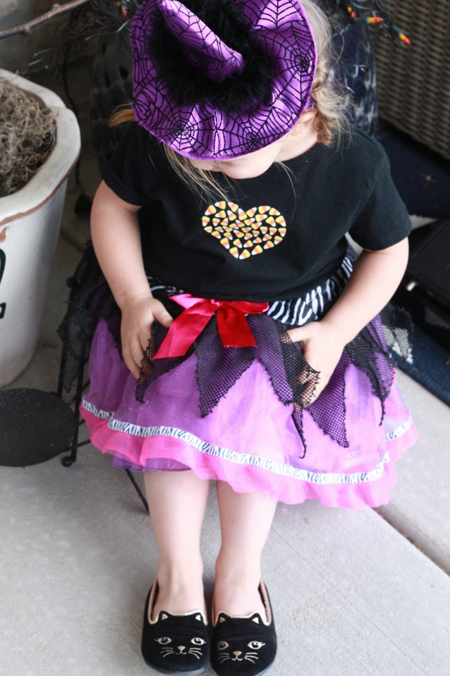 Halloween witch costume. Thrifted from Deseret Industries.