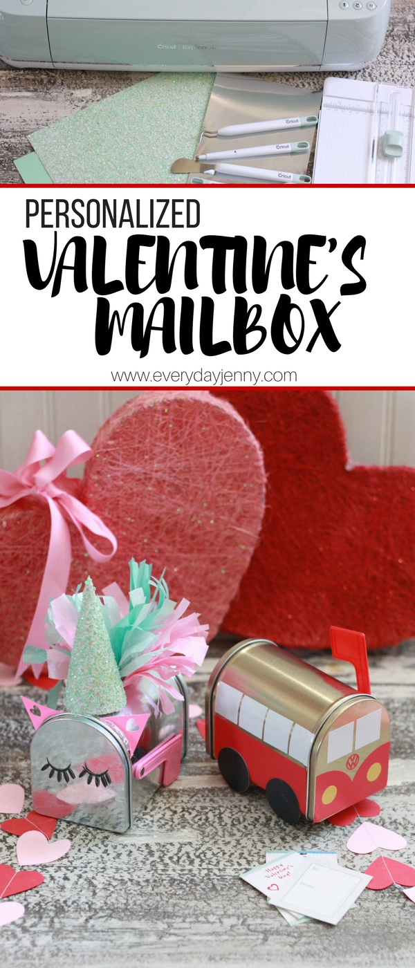 Personalize those dollar spot metal mailboxes with your Cricut and some vinyl and cardstock. So cute and easy! #Cricut #Cricutmade
