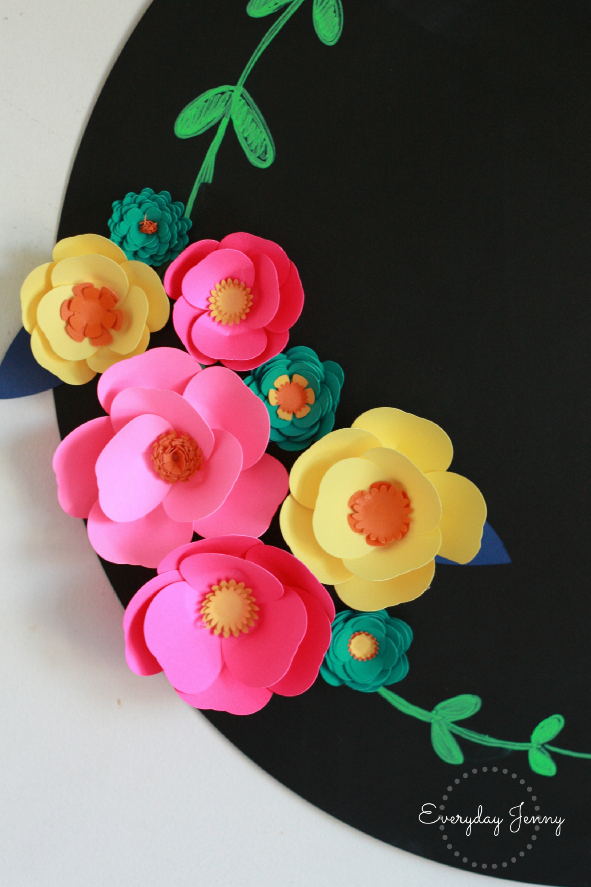 3d paper flower magnets with cricut everyday jenny check out this cute easy tutorial on how to make 3d paper flowers with your cricut mightylinksfo