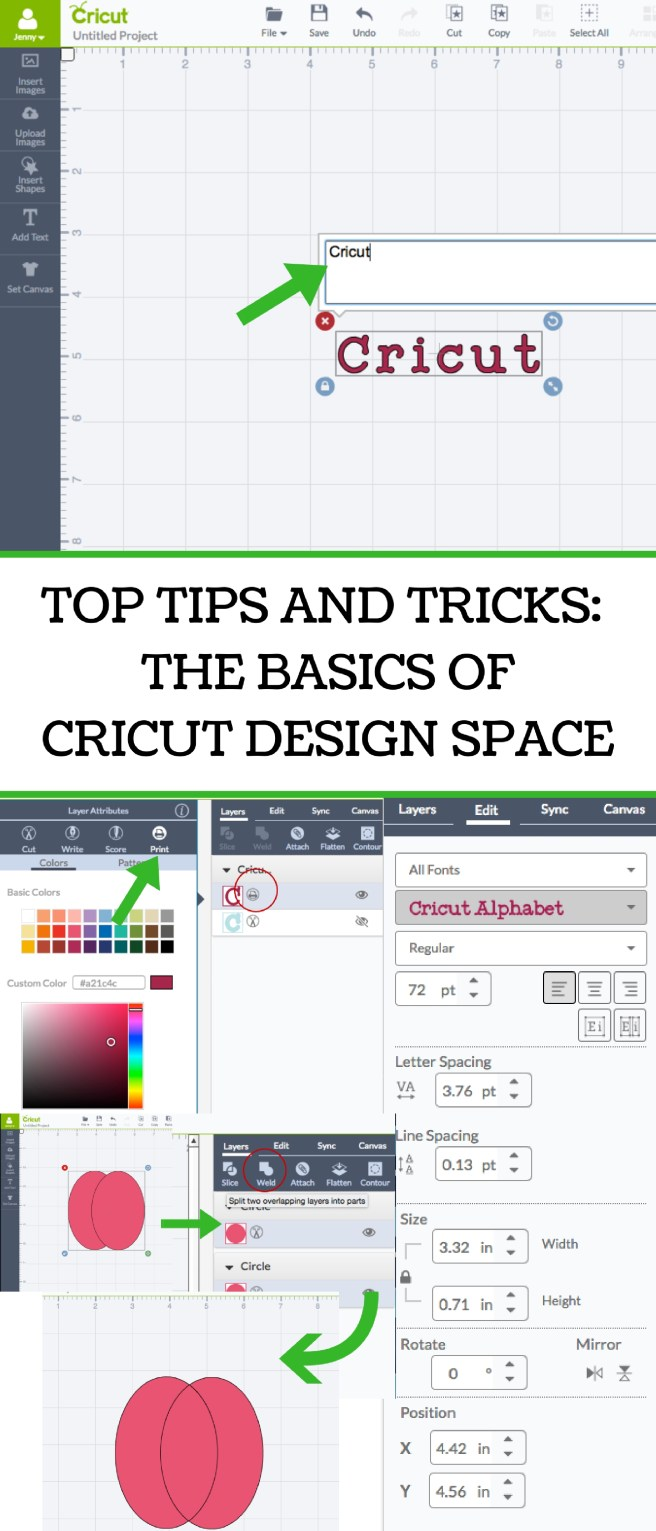 Top Tips And Tricks The Basics Of Cricut Design Space Everyday Jenny