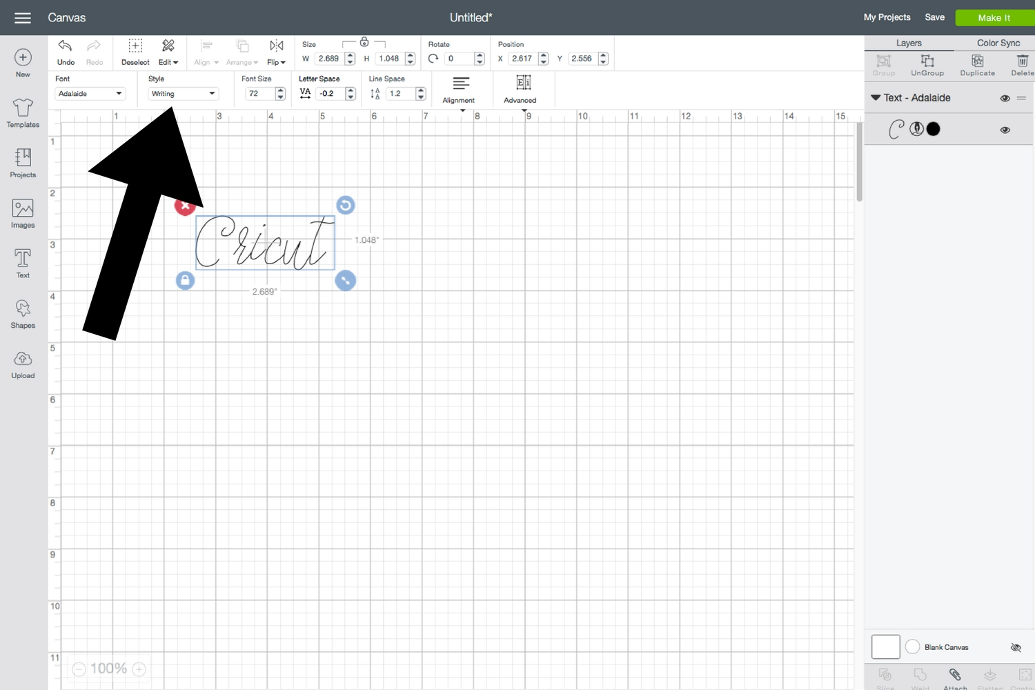 Top Tips And Tricks The Basics Of Cricut Design Space Everyday Jenny Circuit Suite You Can Create Multiple Layers Arrange Use This To Edit Each Letter Separately In Your Text I Be Able Rotate My Letters If Want Make