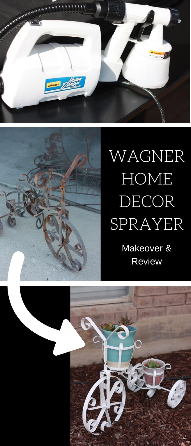 Wagner Home Decor Sprayer Makeover and Review. See how easy this Wagner sprayer is to transform worn out pieces.