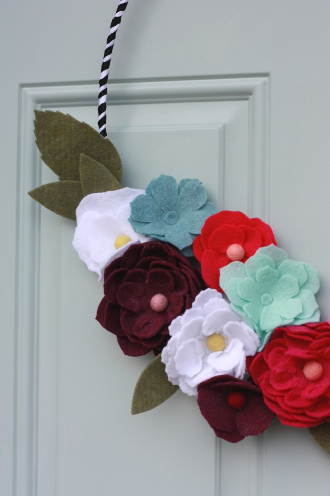 Felt Flower Wreath With The Cricut Maker Everyday Jenny