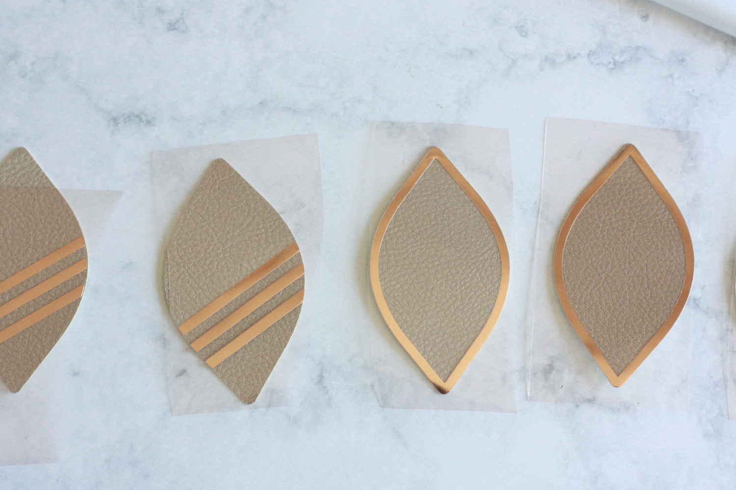 Diy Faux Leather Earrings With Cricut Iron On Everyday Jenny