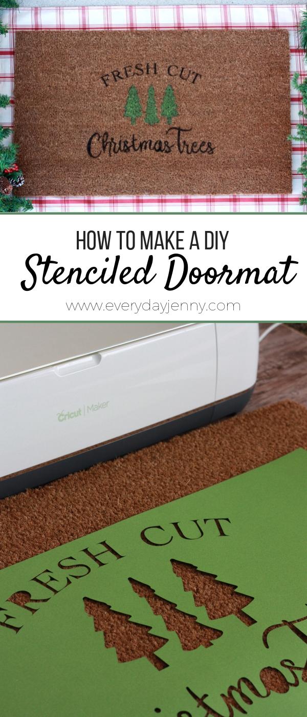 Diy Stenciled Doormat With Cricut Everyday Jenny