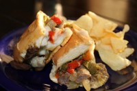 Philly Cheese Steaks with Provolone Cheese Sauce