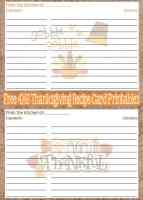 Free Printable Thanksgiving Recipe Cards