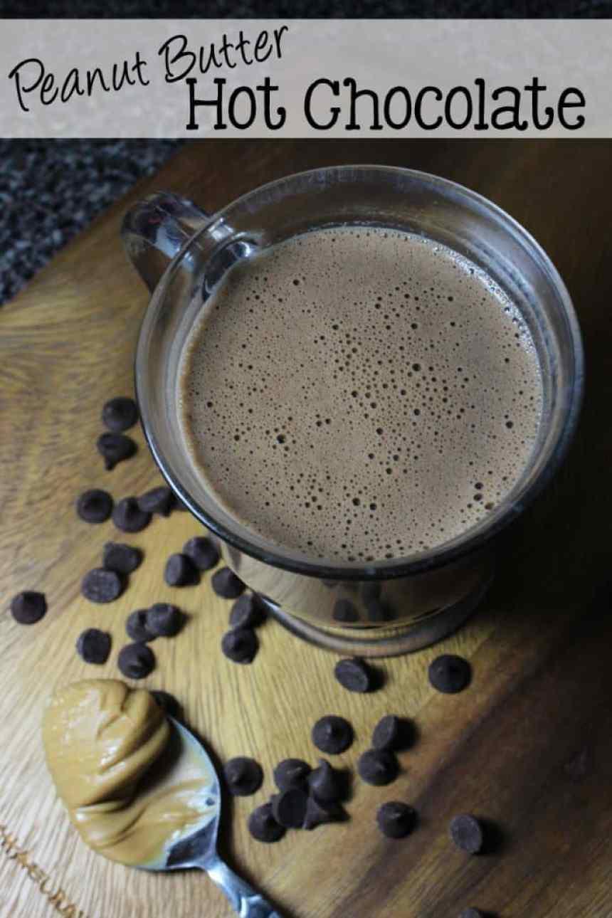 Peanut Butter Hot Chocolate | EverdayMadeFresh.com