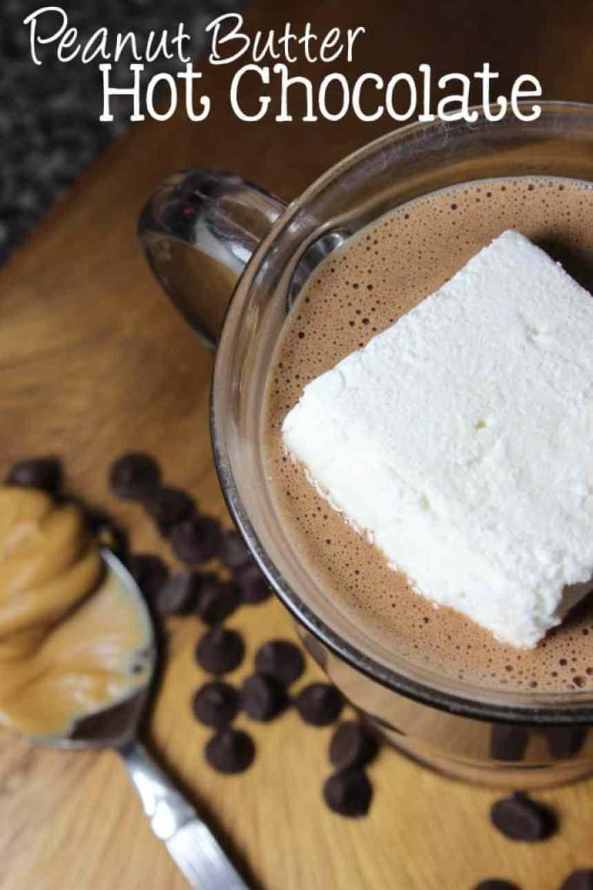 Peanut Butter Hot Chocolate | EverydayMadeFresh.com