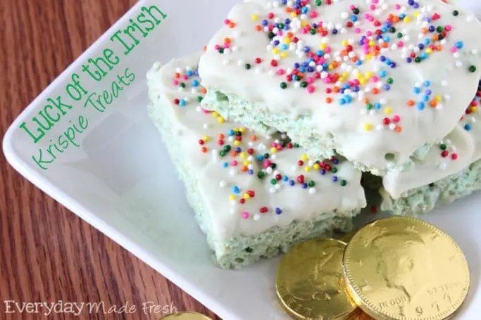 Luck of the Irish Krispie Treats