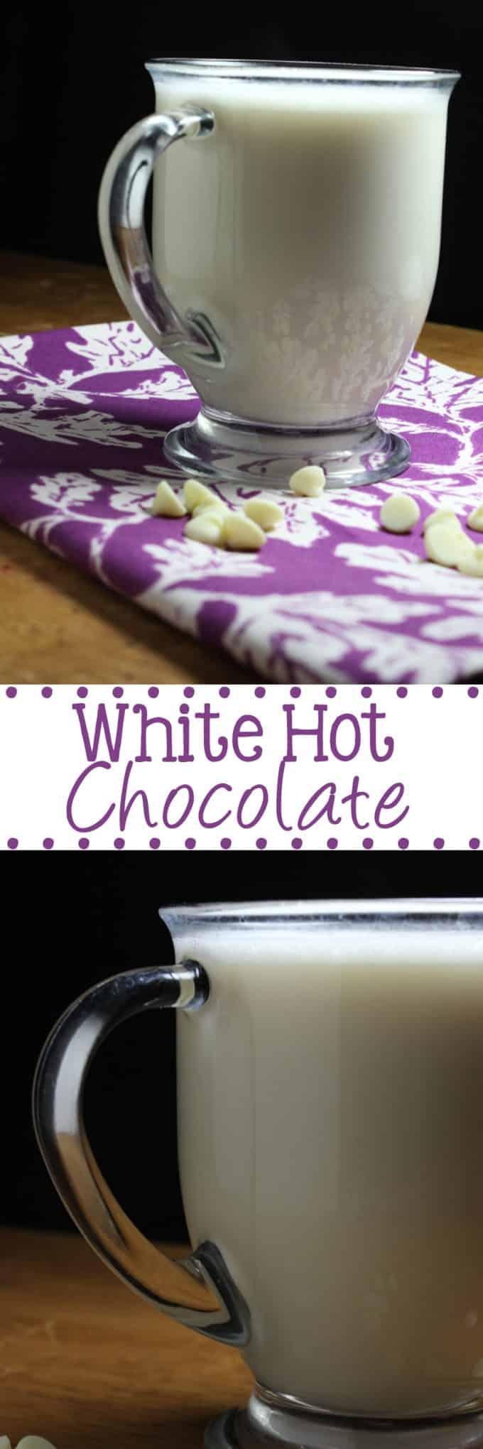 White Hot Chocolate | EverydayMadeFresh.com