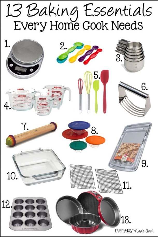 13 Baking Essentials Every Home Cook Needs - Because Baking is a Science | EverydayMadeFresh.com