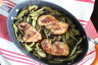 One Pan Balsamic Glazed Chicken and Veggies
