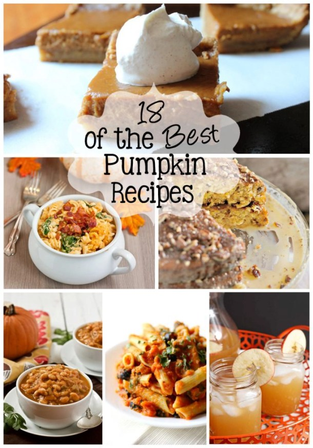 A round-up of 18 of the Best Pumpkin Recipes, including sweet and savory! Recipes for all the pumpkin fans out there. | EverydayMadeFresh