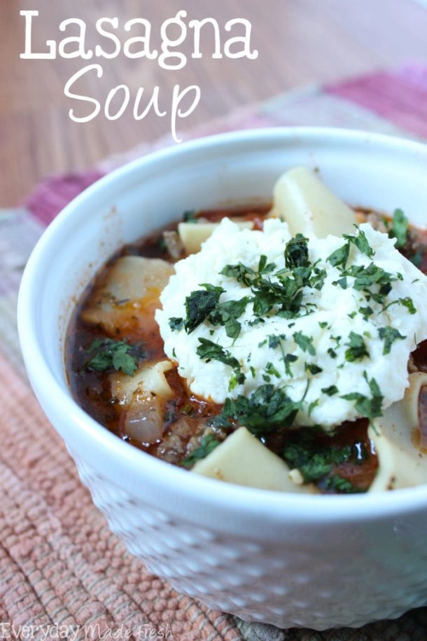 Love lasagna? You'll love this easy-to-make Lasagna Soup that's ready in 30 minutes!