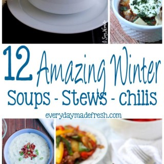 It's winter and everyone is looking for the perfect recipe after a day in the cold. I have picked 12 Amazing Soups - Stews - Chilis that will be the perfect bowl to warm up to! | EverydayMadeFresh.com