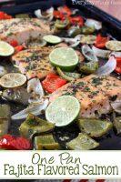 One Pan Fajita Flavored Salmon