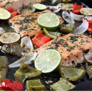 One Pan Fajita Flavored Salmon