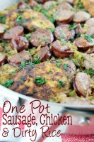 One Pot Sausage, Chicken & Dirty Rice